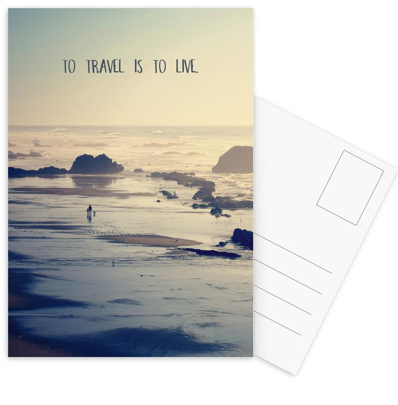 To Travel Is to Live -Postkartenset